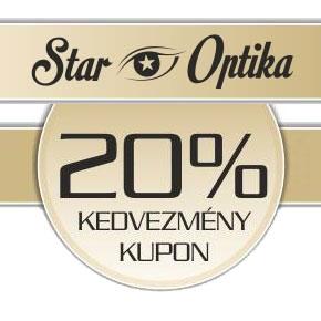 20% kedvezmény a Star Optikában
